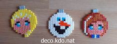 Frozen Christmas baubles hama perler beads by Deco.Kdo.Nat