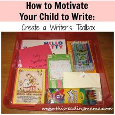 How to Motivate Your Child to Write: Create a Writer's Toolbox | This Reading Mama {Guest Post by The Measured Mom}