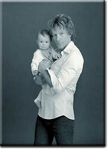 Jon Bon Jovi With His First Kid