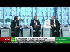 Putin contesta las preguntas de los periodistas en el Foro Económico Int...