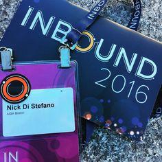 Picked up my #inbound16 badge