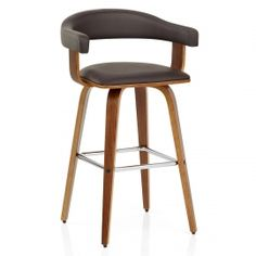 chaise de bar design scandinave corail corail/chêne - siwa ... - Chaise Haute Pour Bar