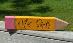 Custom Personalized  Teacher Gift   Wooden Name Plate by dlpsigns, $24.00