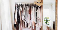 Makeshift closet ideas for my tiny house // Gold mirror + clothing rack - Home Decor Idea My New Room, My Room, Makeshift Closet, Home Bedroom, Bedroom Decor, Bedroom Ideas, Bedroom Storage, Bedroom Small, Wardrobe Small Bedroom