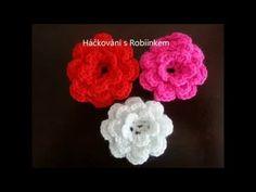 Navod hackovana kyticka, kytka, Hackovani s Robiinkem, My Crafts and DIY Projects Diy Crochet, Tutu, Diy And Crafts, Crochet Earrings, Diy Projects, Make It Yourself, Flowers, Youtube, Tutorials