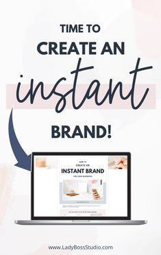 Time to Create an Instant Brand! Branding your business is, without a doubt, the most challenging aspect of building a business. It's very often the first step of creating your business, and sadly for so many of us, it can really hold things up. It definitely doesn't need to be this way! Check out how to create an Instant Brand, RIGHT NOW. #branding #onlinebusiness