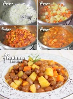 Turkish Recipes, Ethnic Recipes, Chana Masala, Sweet Potato, Curry, Food And Drink, Dishes, Vegetables, Desserts