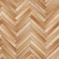 Seamless wood parquet texture (herringbone light brown) by Vdr0id on @creativemarket