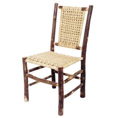 Old Hickory Side Chair - Matching Seat & Back Fun card table chair Table And Chairs, Side Chairs, Dining Chairs, Dining Room, Dining Table, Dining Furniture, Rustic Furniture, Outdoor Furniture, Black Forest Decor