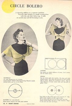 Vintage Circle Bolero - FREE Sewing Pattern and Tutorial