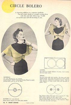 Vintage Circle Bolero - FREE Sewing Pattern and Tutorial