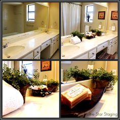 bathroom staging, simple bathroom staging, before and after bathroom staging