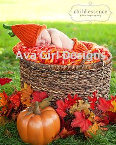 Baby pumpkin hat and diaper cover set boy girl by AvaGirlDesigns, $50.00