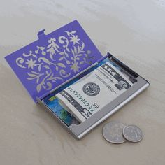 Cute ID Case.  I really like this ... I'm always afraid to put loose cash and cards in my pockets because I'm paranoid about losing them.