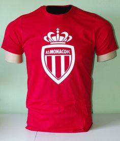AS-Monaco-FC-France-Ligue-1-Soccer-T-Shirt-UEFA As Monaco, Football Soccer, Sport Outfits, Slogan, T Shirt, Community, Supreme T Shirt, Tee Shirt, Workout Outfits