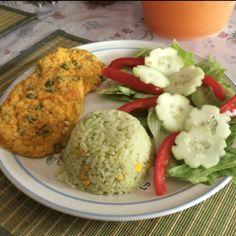 Tortitas de Verduras Horneadas Protein Pack, Vegetarian Dinners, 20 Min, Pizza, Rice, Chicken, Vegetables, Cooking, Food Ideas