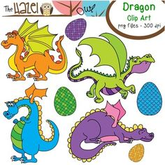 Dragon & Dragon Egg Clip Art!  $