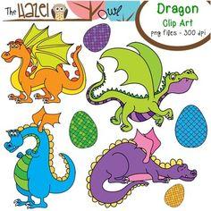 Dragon & Dragon Egg Clip Art!  $