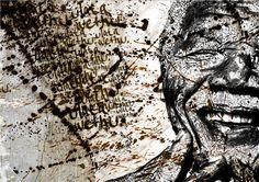 uTata wethu (Mandela) by Loyiso Mkungela, via Behance Xhosa, African Art, Black Art, Behance, Drawings, Poster, Animals, Politics, Illustrations