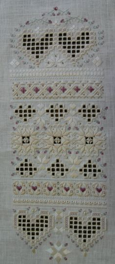Antique Fancy a Hardanger Sampler by ShOOtingStarDSGN on Etsy, $100.00