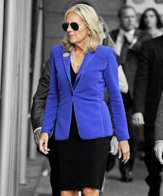 Jill Biden Fashion, Now And Then Photos Style Evolution Jill Biden, Fashion Bible, Two Ladies, Fashion Photo, Blazer, Lady, Evolution, Jackets, Photos