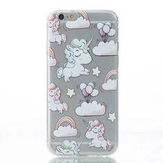 iPhone 6 6S - Enhörning Regnbåge rosa moln Iphone 5s 93f80c708f747