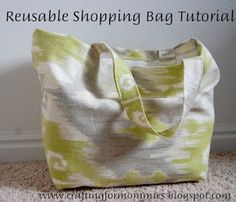 GREAT BAG. I made a half dozen bags a few years ago and I still use them each time I go grocery shopping! The trick is when you empty the bags hang them on the front door knob so you don't leave home without them or you can put them in your car the next time you go out. (keep a few plastic bags for meat ect-wash and dry them and reuse them over n over!)