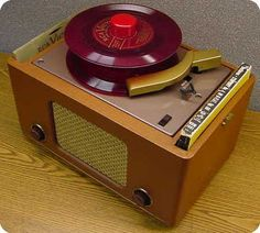 1949 - Enter the 45-rpm record and the player. by 45 Victrola, via Flickr