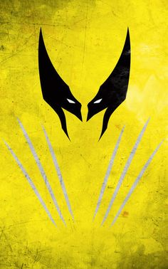 I love these posters! I want one for my office!  Wolverine minimalist poster by thelincdesign.
