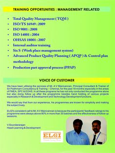 Management Related Training programs conducted by Sri Padhmam Consultancy & Training.