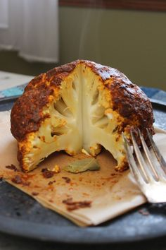 Whole Roasted Curry Cauliflower -- from The Fitchen OMG---this just sounds soooooo good!