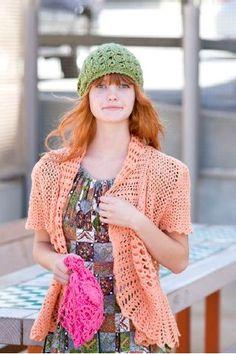 Broomstick lace crochet hat pattern
