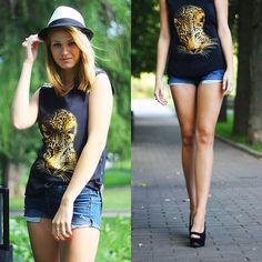 Zara Blouse, Shorts, Aldo Shoes