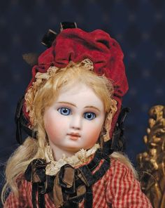 82:  BEAUTIFUL SONNEBERG BISQUE DOLL BY MYSTERY MAKER - - 2
