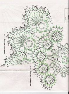 Crochet Knitting Handicraft: Napkins - the Irish and the Bruges lace Crochet Tablecloth Pattern, Crochet Doily Patterns, Crochet Diagram, Crochet Chart, Filet Crochet, Irish Crochet, Crochet Motif, Crochet Doilies, Crochet Needles