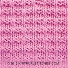 Ridge Rib stitch | knitting in the round