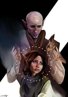 "Dragon Age: Inquisition - Solas & Lavellan """