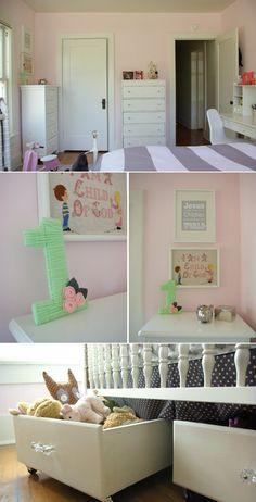Toddler & Tween Shared Bedroom.