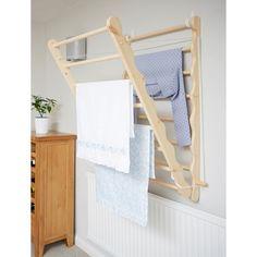 Laundry Drying Rack Wall, Laundry Hanging Rack, Hanging Clothes Drying Rack, Hanging Racks, Drying Room, Wall Mounted Clothes Airer, Wall Mounted Drying Rack, Laundry Room Inspiration, Pantry Design