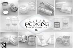02 Clear Container Packaging MockUps by INC Design on @creativemarket