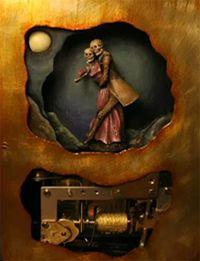 Spooky Love: A Danse Macabre - automaton book by Thomas Kuntz