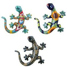 RasuguEnterprises : Large Lizard Gecko Salamander Mexican Talavera Ceramic