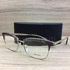 357e130b94 Prada VPR08S Eyeglasses Opal Light Brown Gold UED-1O1 Authentic 55mm