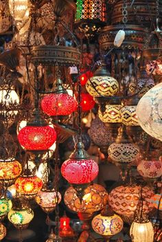 Interesting range of oriental lights for colour inspiration