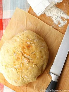 No-knead artisan bread that rises while you sleep: