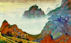 Nicholas Roerich - Confucious the Just One  1925, tempera on canvas
