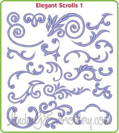 Elegant Scrolls Building Blocks - machine embroidery designs collection, great for combining