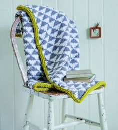 Triangle Motif Knitted Throw Made Peachy