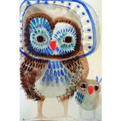 """Wilson & Co"" Limited Edition Art Print A stunning reproduction of 'Wilson & Co', a Jessie Breakwell Gallery original. Animal Art Prints, Animal Paintings, Wall Art Prints, Art And Illustration, Owl Wall Art, Owl Artwork, Elementary Art, Bird Art, Fine Art Paper"