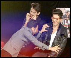 Gianluca joking, Ignazio Grrrr and Piero...Piero with the little bite tongue and his impish super smile...IT IS PRICELESS! That beautiful!